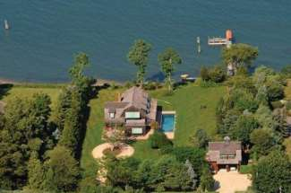 Shelter Island Modern Barn-Style with Deep Water Dock and Pool