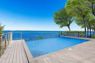 Shelter Island Bayfront with Infinity Edge Pool and Sandy Beach