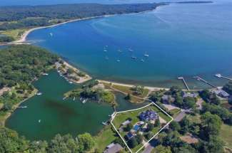 Shelter Island Smith Cove Traditional with Dock and Pool