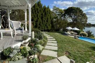 Stately Shelter Island Bayfront with Pool and Dock