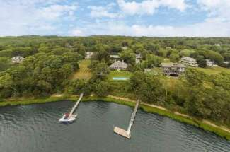 Shelter Island Bay Front with Tennis, Pool and Deep Water Dock