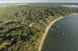Shelter Island Sandy Beachfront Cottage on 1.7+/- Acres