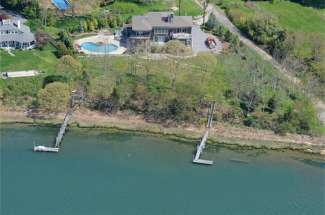 Stunning Shelter Island Bay Front with Dock and Pool