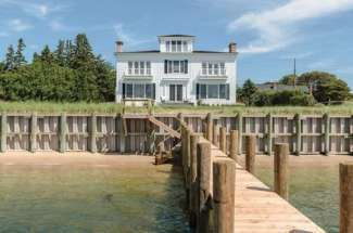 Exquisite Shelter Island Sound Front Beach House with Dock