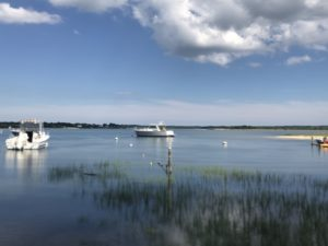Boats moored on Shelter Island